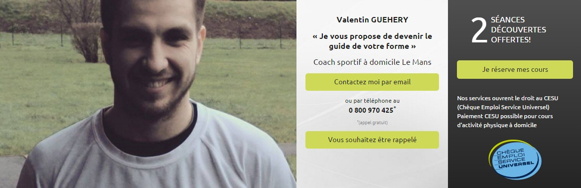 Coach sportif Le Mans   GUEHERY Valentin