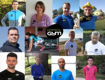 Les nouveaux coachs du réseau Domicil'Gym
