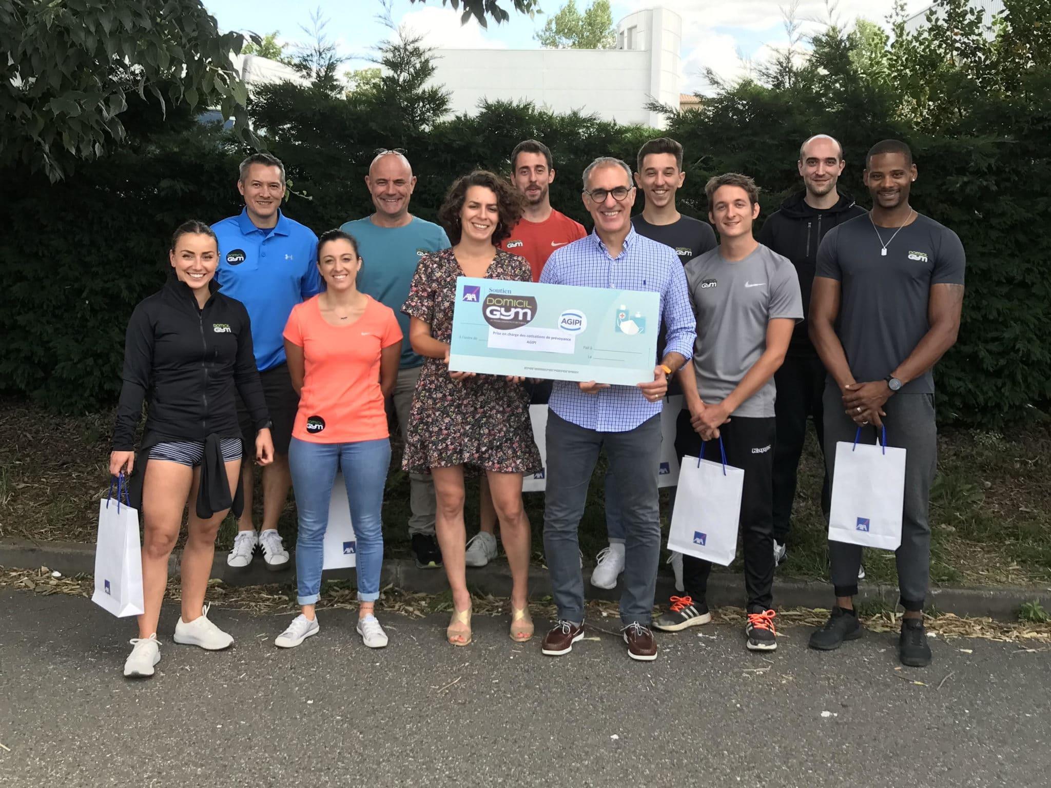 AXA fait une dotation à l'ensemble des coachs sportifs franchisés DOMICIL'GYM®